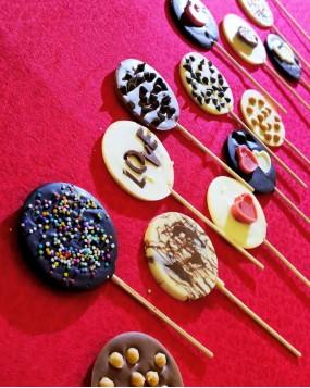 Chocolate sticks handmade pack of 14