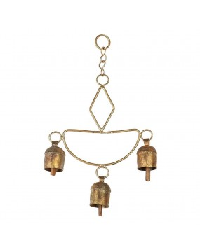 Diya chime Wall Hanging with 3 Bells