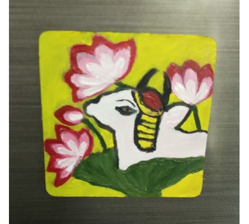 Hand ✋ Painted Fridge 4 Magnets