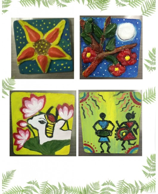 Hand ✋ Painted Fridge 4 Magnets