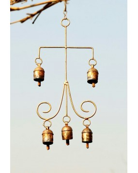 Cage shaped Wall Hanging with 5 Bells