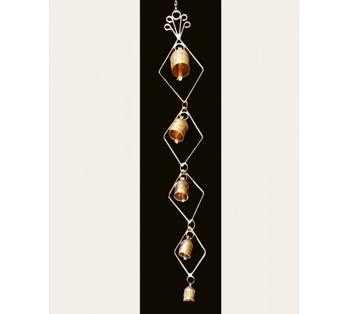 Wall Hanging with 5 Bells Dia shaped