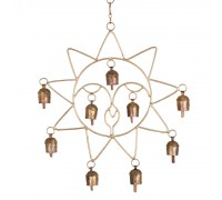 Sun shaped Wall Hanging with 9 Bells