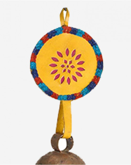 Embroidery Yellow colored Key chain Bell Kaushar Handicrafts 25 x 5 inches