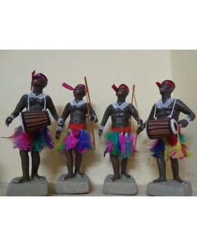 Tribes clay dolls