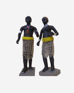 Tribes Clay doll handmade  8 inches