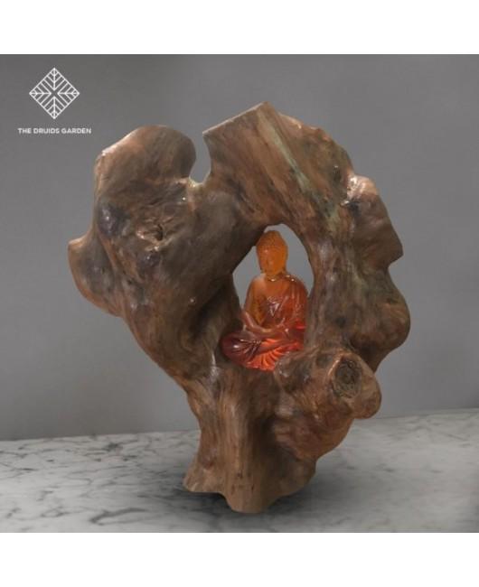 Buddha Cave Woodart Table Lamp
