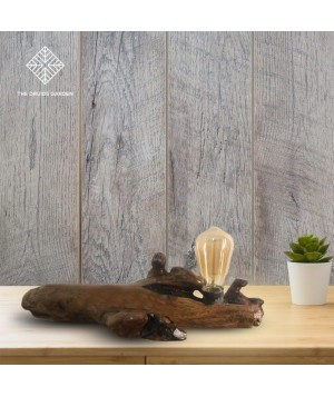 Resting Branch Driftwood Table Lamp
