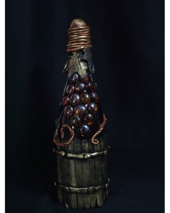Exclusive grapes winery shampain bottle.