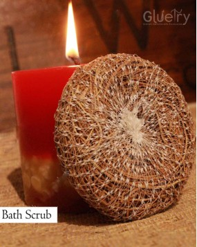 Bath scrubber Ayurvedic made of vetiver roots Pack of 2