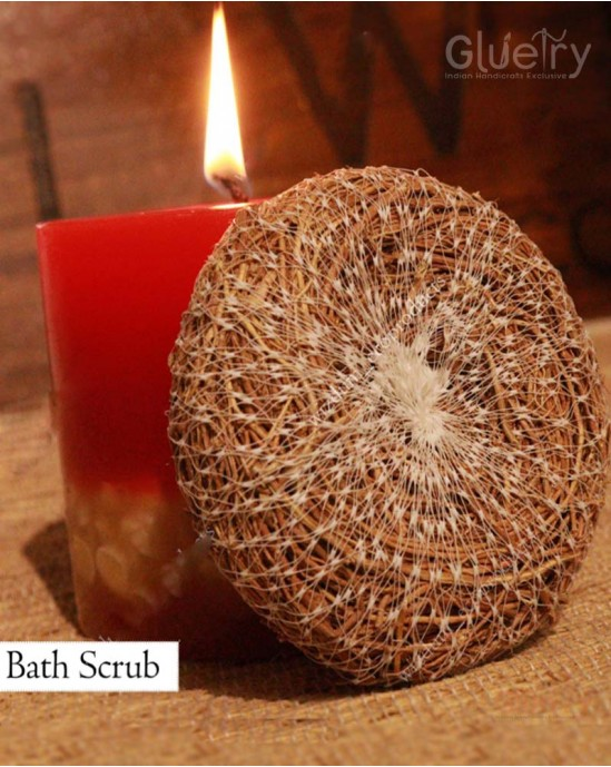 Bath scrubber Ayurvedic made of vetiver roots Pack of 5