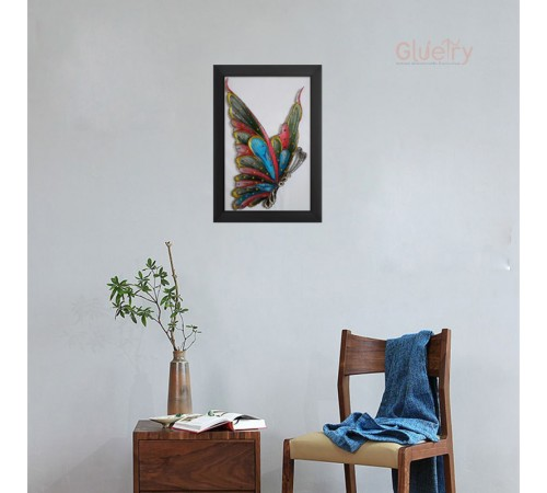 Embroidery Art of Beautiful Butterfly