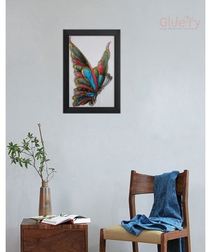 Embroidery Art of Beautiful Butterfly 11.5 in x 17.5 in