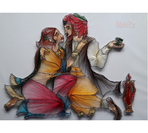 Embroidery Art of Couple 1.5 ft x 2 ft