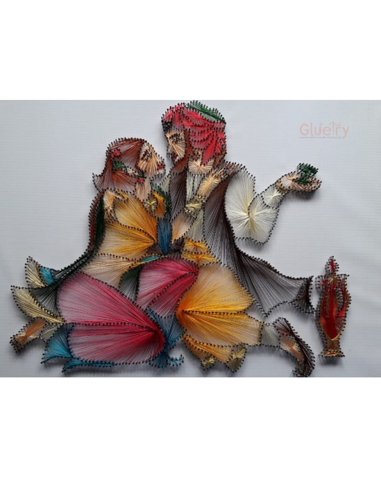 Embroidery Art of Beautiful Couple 1.5 ft x 2 ft