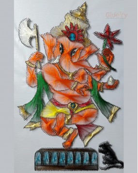 Embroidery Art of Ganesh 1 ft x 1.5 ft