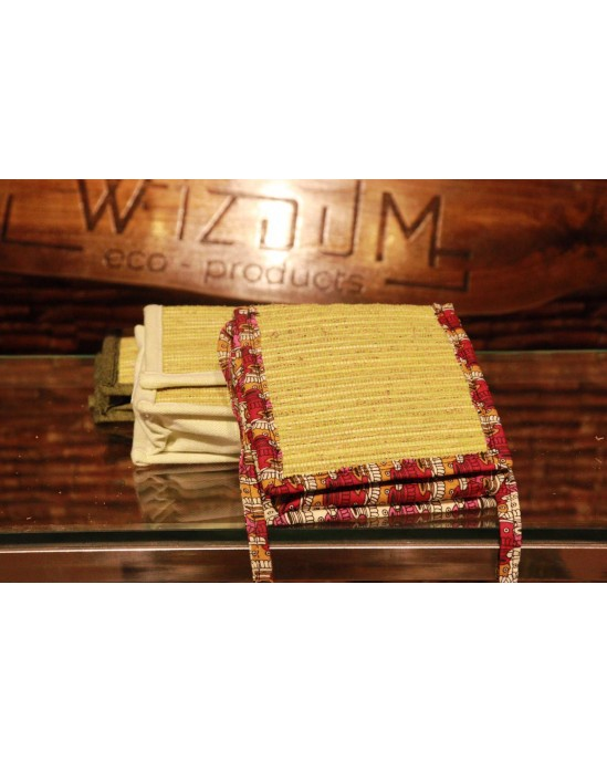 Handmade Bag Made up of Vetiver Fabric